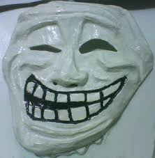 Troll Meme Mask - art sci trollface gets immortalized in art
