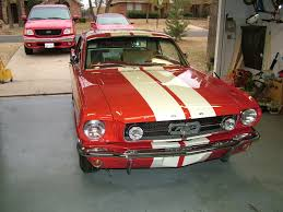 1966 red mustang with white lemans stripes mustang classic