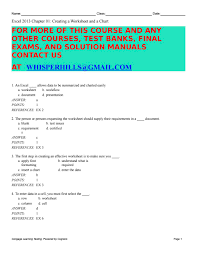 test bank for enhanced microsoft office 2013 introductory 1st