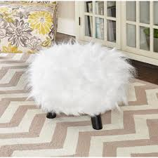home and floor decor linon home decor white accent foot stool 40487wht 01 as u the