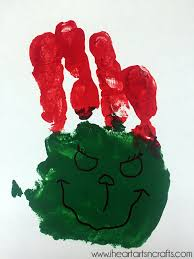 the grinch handprint christmas card with printable i heart arts