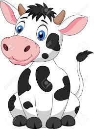 cute cow cartoon sitting stock vector line drawings pinterest