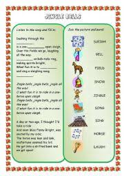 english teaching worksheets jingle bells