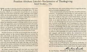 lincoln s thanksgiving proclamation speech