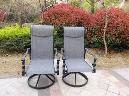 Swivel Rocker Patio Chair by Pebble Lane Living 7 Piece Patio Dining Set With Cast Aluminum