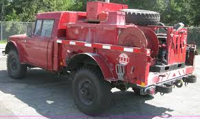 jeep brush truck 1968 kaiser jeep m715 brush firetruck item h6419 sold o