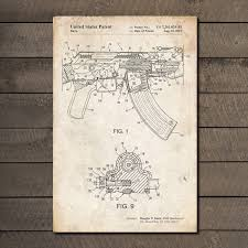 what size paper are blueprints printed on ak 47 blueprint gun patent prints touch of modern