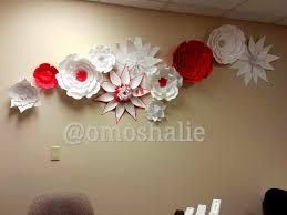 Homemade Wall Decor Handmade Paper Flower Collage Wall Art Decor 54artistry