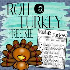 roll a turkey thanksgiving activity free by cori bloom tpt