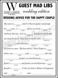 bridal mad libs printable wedding mad lib a guest book by weddingsbyjami