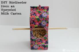milk carton craft diy birdfeeder youtube