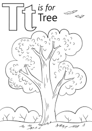 letter tree coloring free printable coloring pages