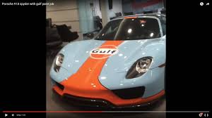 gulf racing wallpaper porsche 918 spyder with gulf paint job youtube