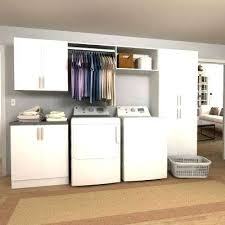 laundry room upper cabinets white laundry room cabinet horizon in w white hanging rod laundry
