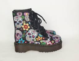 womens boots or dead skull shoes boots sugar skulls custom shoes