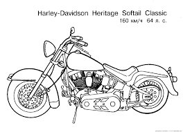 coloring pages motorcycle