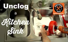 how to unclog my sink how to unclog a kitchen sink drain by home repair tutor youtube