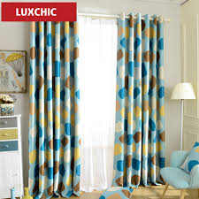 Grommet Top Blackout Curtains 1pc Grommet Top Modern Curtains Endless Printed Thick Blackout