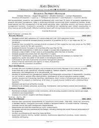 Resume Operation 638825 Assistant Property Manager Resume Sample Template With