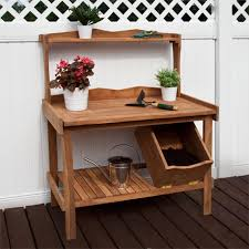 Merry Garden Potting Bench by Outdoor Potting Bench With Storage Outdoor Designs