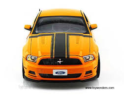 Yellow Mustang With Black Stripes 2013 Ford Mustang Boss 302 Hard Top Sc451yl 1 18 Scale Shelby