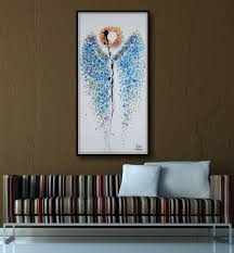 Angel Wings Home Decor by Saatchi Art Painting Angel Wings Original Oil View In A Room