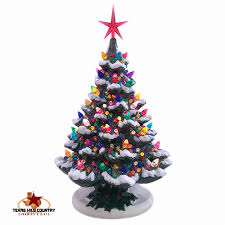 ceramic christmas tree ceramic christmas tree with snow 16 inches with lots of color