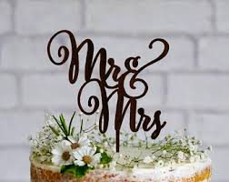 mrs mrs cake topper custom wedding cake topper with your last name mr and mrs