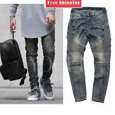 Burgundy Skinny Jeans Mens Slim Skinny Jeans For Men Ebay