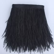 amazon com sowder ostrich feathers trims fringe with satin ribbon