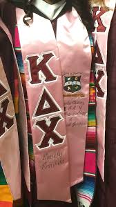 sorority graduation stoles kappa delta chi sorority inc masters graduation stole college