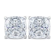 cubic zirconia stud earrings cushion cut cubic zirconia stud earrings mystique of palm