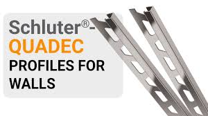 how to install tile edge trim on walls schluter quadec youtube