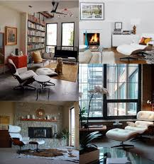 eames chair living room furniture excellent eames lounger with floor lamp and light