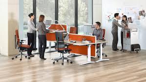 Langer Schreibtisch Schreibtisch Für Open Space Holz Laminat Stahl Ology