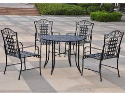 Rod Iron Patio Table And Chairs Fair Pendant For Your Wrought Iron Patio Table And 4 Chairs Small