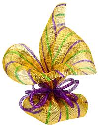 party ideas by mardi gras outlet gift wrap ideas with deco mesh