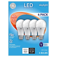 ge hd light refresh ge refresh daylight hd 40watt equivalent a19 led 4pk from 16 99