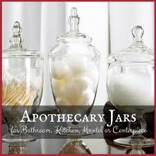 jars for bathroom kitchen mantel or centerpiece