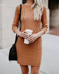 sweater dress meet me in the lodge cable knit sweater dress camel flash sale