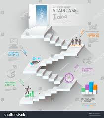 Stair Elements by Business Staircase Thinking Idea Staircase Doorway Stock Vector