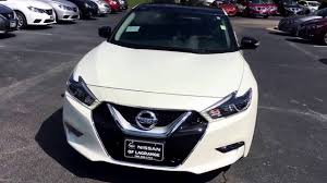 nissan altima 2017 white 2017 nissan maxima platinum medallion package in pearl white youtube