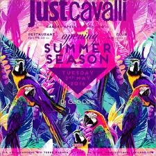 Club Summer Garden - ra summer garden opening party at just cavalli club north 2016