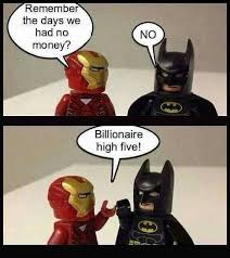 Funny Batman Memes - life is tough teamironman batman fandoms geek culture
