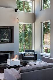 contemporary fireplace modern home in eugene oregon by jordan