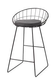 chaise de bar chaise de bar treillis en métal pomax