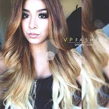 vpfashion ombre hair extensions three colors ombre clip in hair extensions m1b27s27h30