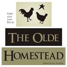 chicken home decor primitive stencil olde homestead rooster chicken star country farm