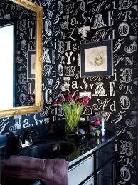 Black And White Wallpaper For Bathrooms - tween u0027s glam powder room makeover hgtv