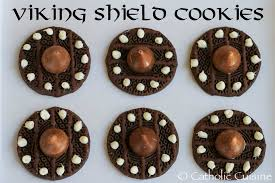 cuisine viking catholic cuisine viking shield cookies for the feast of st magnus